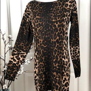 Sweater/ tunic or dress leopard print